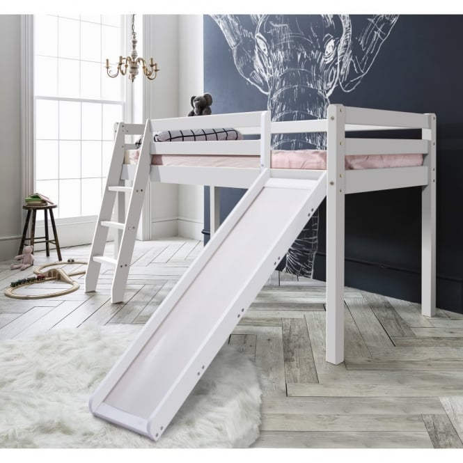 Noa and Nani Thor Midsleeper Cabin Bed with Slide in White