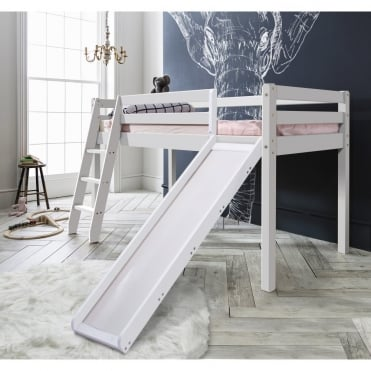 Thor Midsleeper Cabin Bed with Slide in White