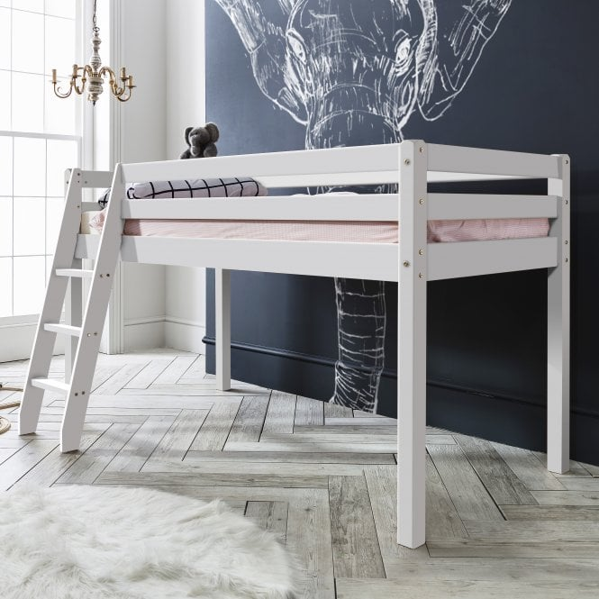 Noa and Nani Thor Midsleeper Cabin Bed with White Frame