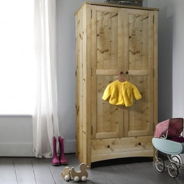 Tobie Wardrobe in Natural Pine Kids