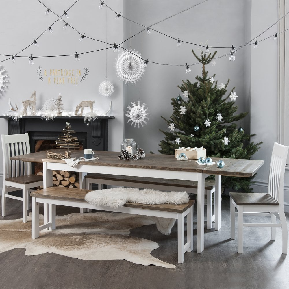 Nordic dining table with 2 x extensions