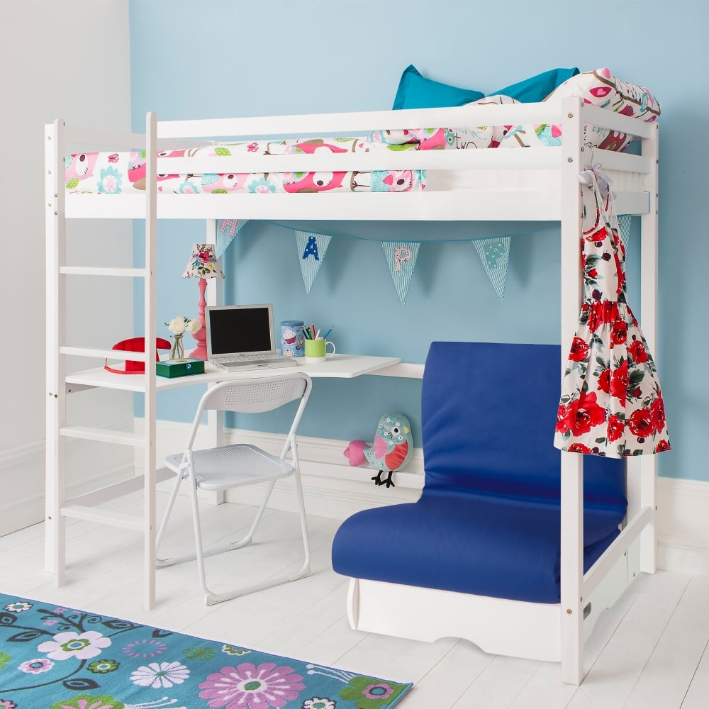 Super Ollie Futon Pullout Guest Bed Sofa In Blue Machost Co Dining Chair Design Ideas Machostcouk