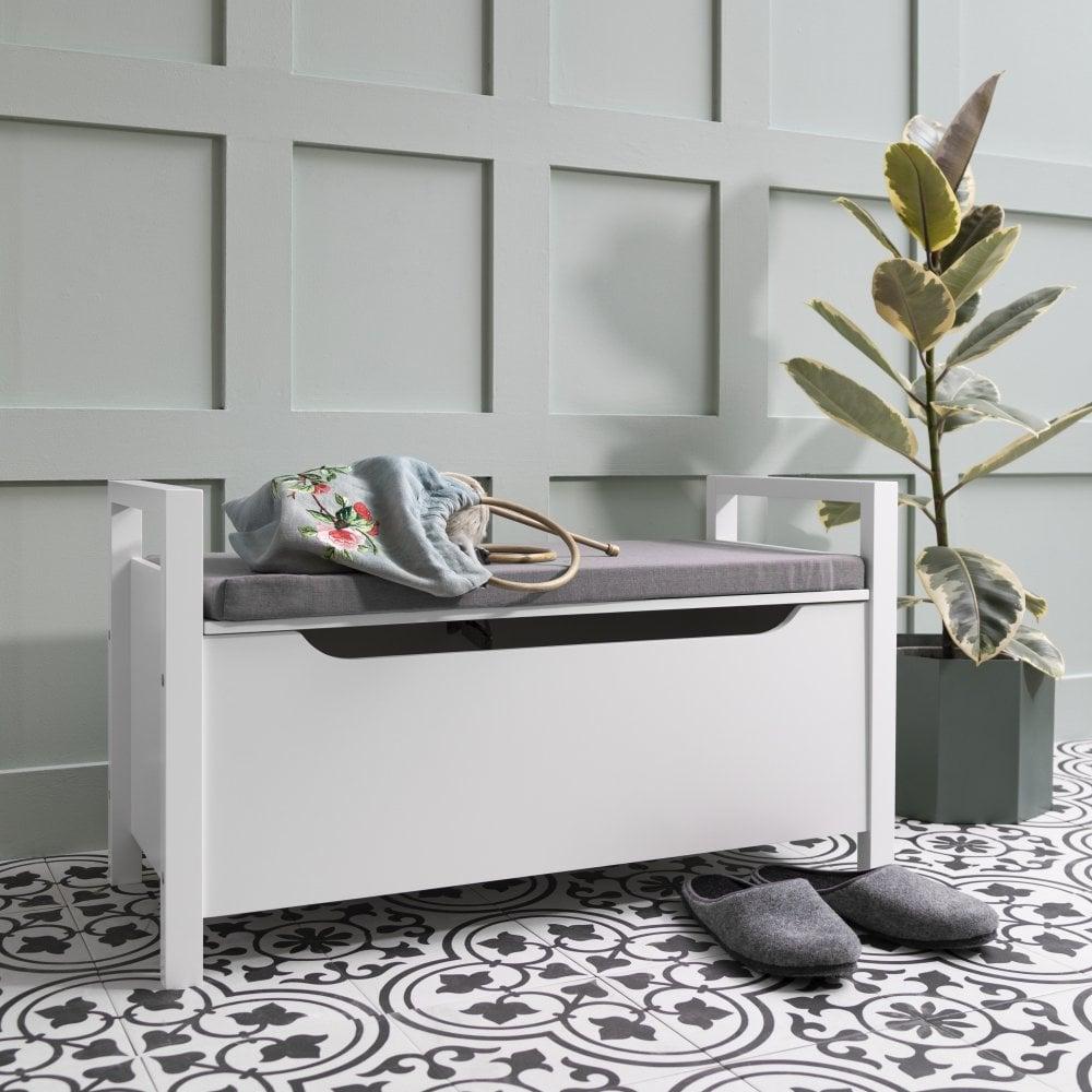 Prime Olsen Storage Bench In White Pdpeps Interior Chair Design Pdpepsorg