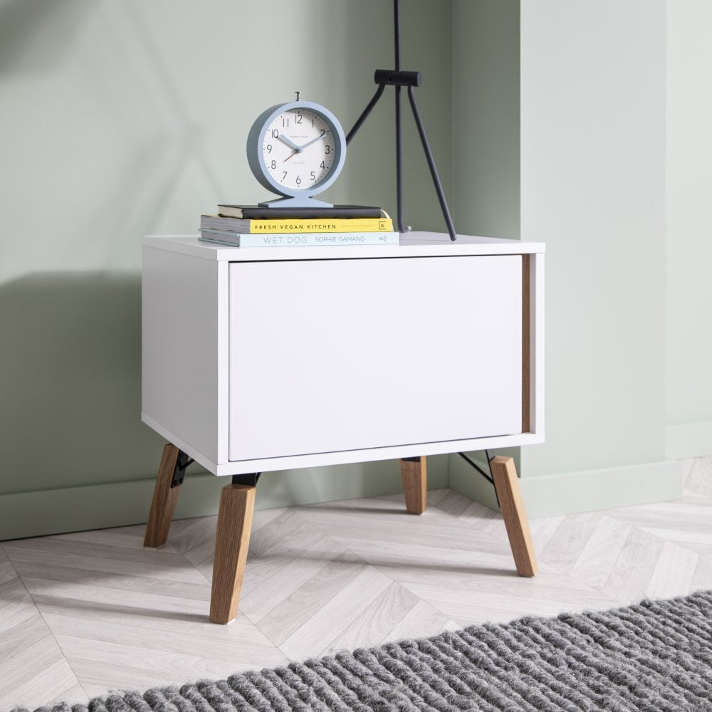 Otto Bedside Table in White