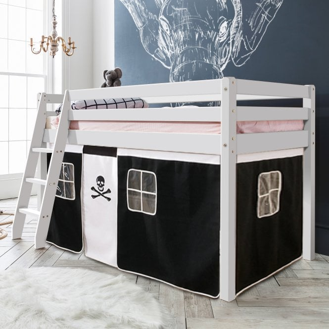 Pirates Cabin Bed with Ladder and Tent in Pirate Design