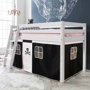 Cabin Bed with Ladder and Tent in Pirate Design