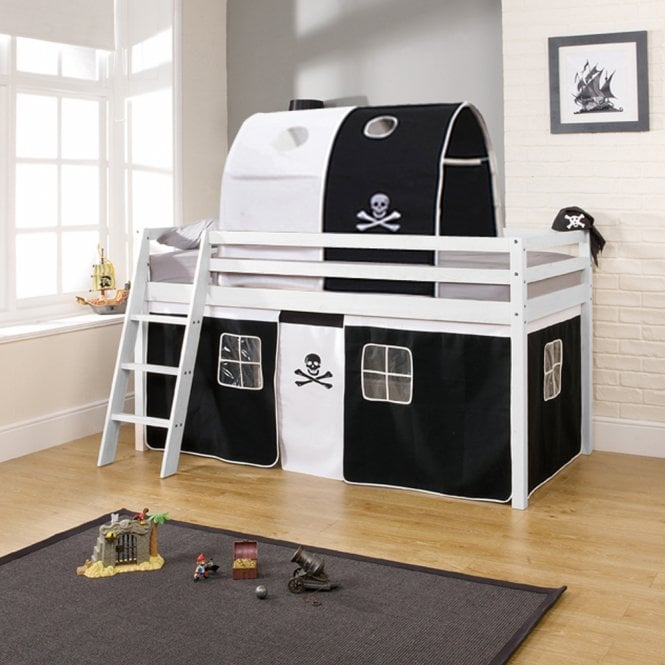 Pirates Cabin Bed with Tent and Tunnel in Pirate Design