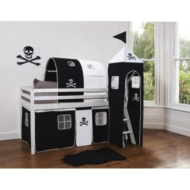 Tent for Midsleeper Cabin Bed in Pirate Design