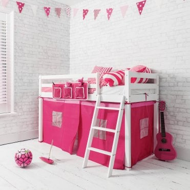 Pretty Pink Midsleeper Shorty Cabin Bed