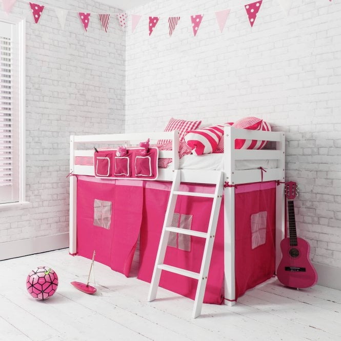 Pretty Pink Ontario Midsleeper Shorty Cabin Bed