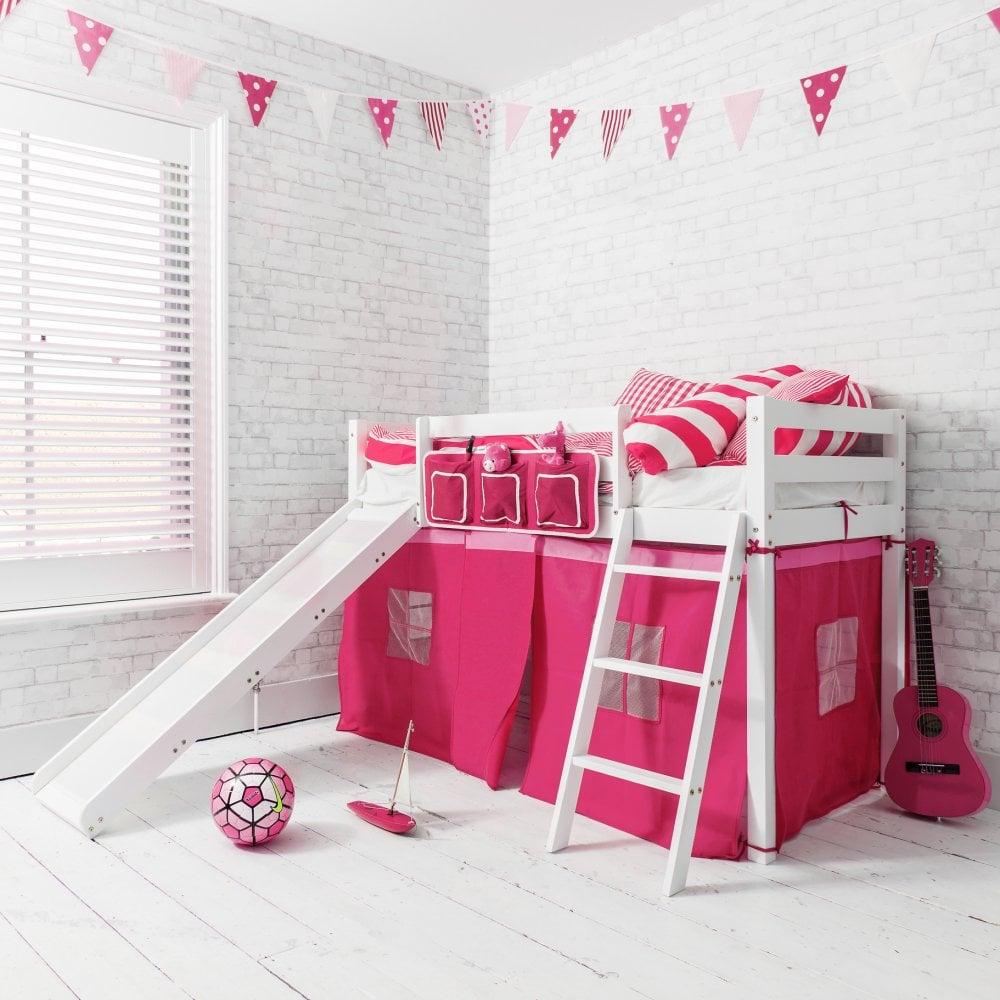 oskar midsleeper shorty cabin bed in pink noa nani. Black Bedroom Furniture Sets. Home Design Ideas