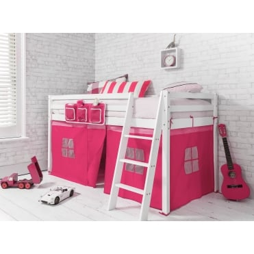 Tent for Midsleeper Cabin Bed in Pink