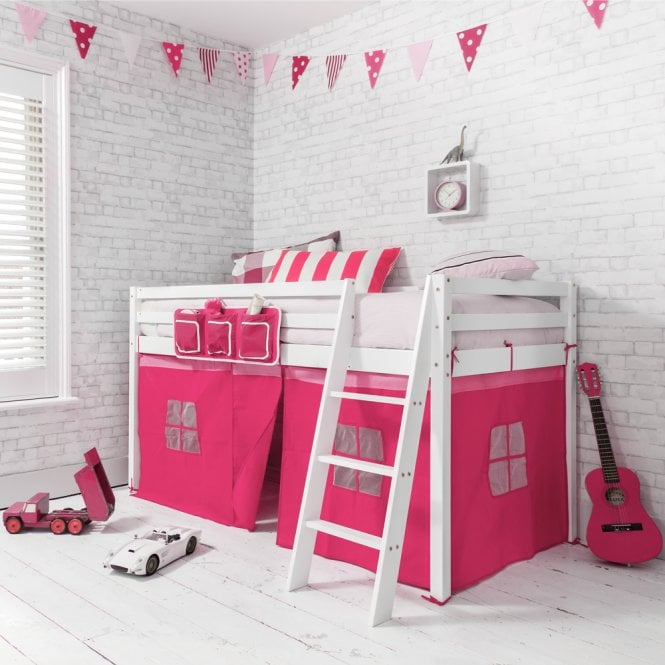 Pretty Pink Tent for Midsleeper Cabin Bed in Pink