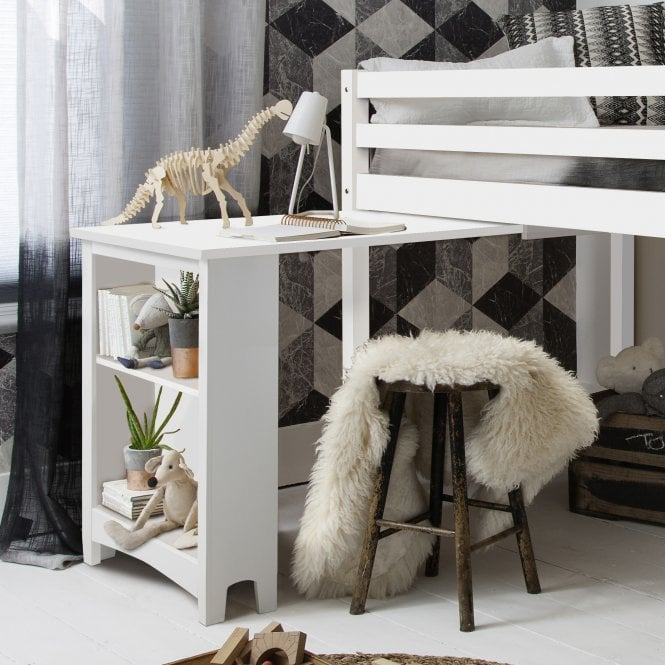 Pullout Desk for Cabin Bed in White