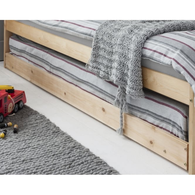 Pullout Spacesaver Trundle Bed in Natural