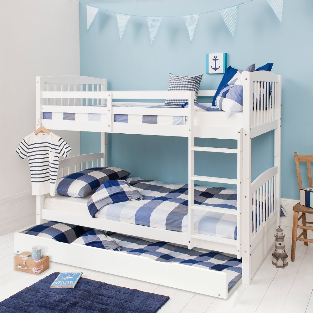 Pullout Spacesaver Trundle Bed In White