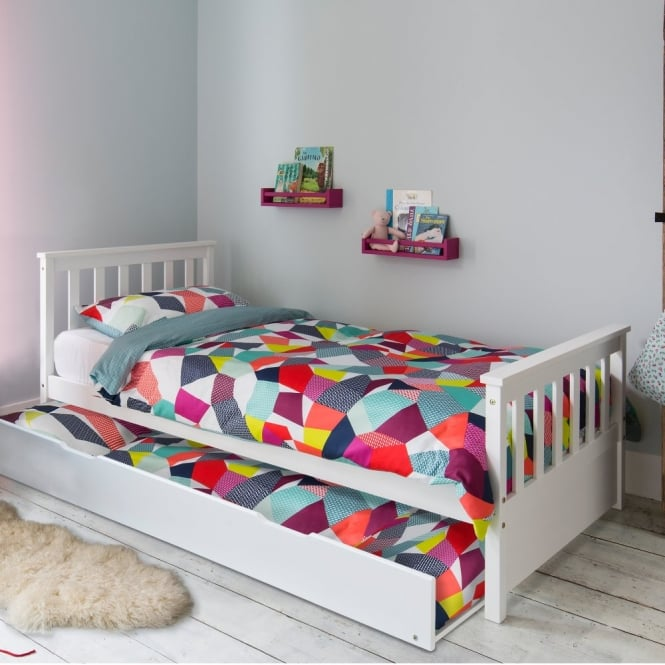 pullout spacesaver trundle bed in white noa nani 17073 | pullout spacesaver trundle bed in white p148 1882 medium