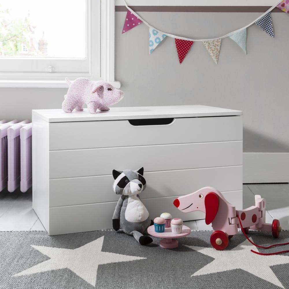 rohen toy box in white toy storage organiser accessories. Black Bedroom Furniture Sets. Home Design Ideas