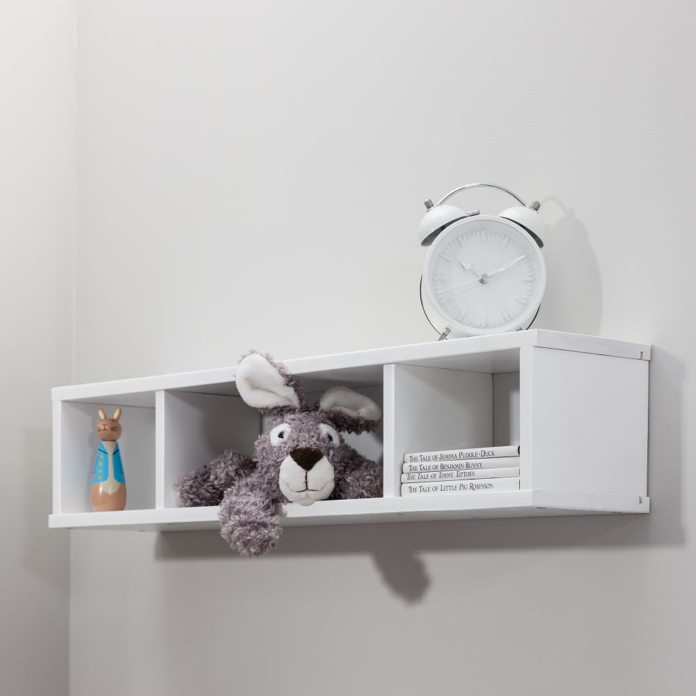 Shelving Unit Wall Mounted Cube In White Cabin Beds From