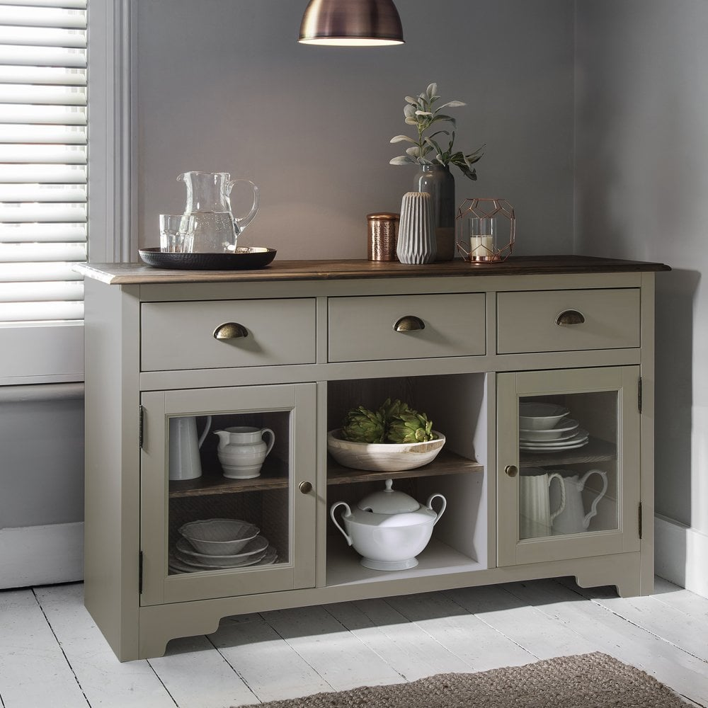 Canterbury Sideboard In Silk Grey And Dark Pine Noa Amp Nani