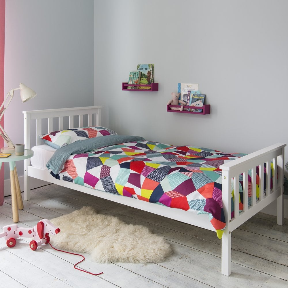 painted wooden lfe wood frame shaker single white share beds solo bed this