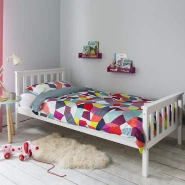 Single Bed Dorset in White