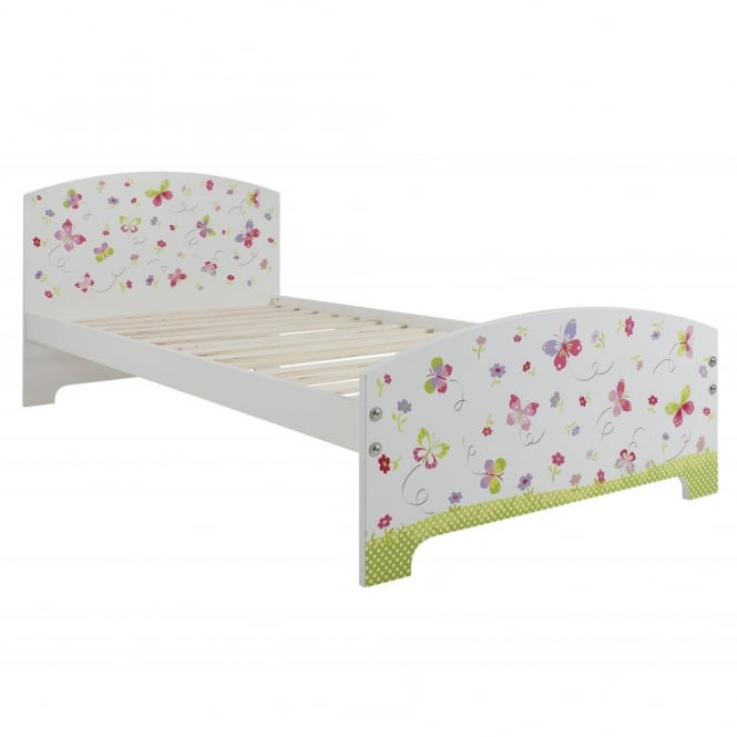 Butterflies Single Bed with Butterflies Design