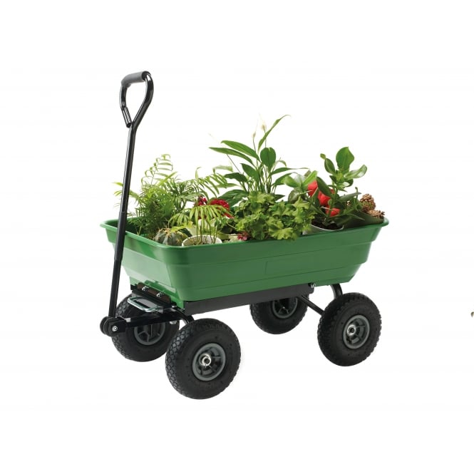 Small Garden Cart with Tipping Trailer