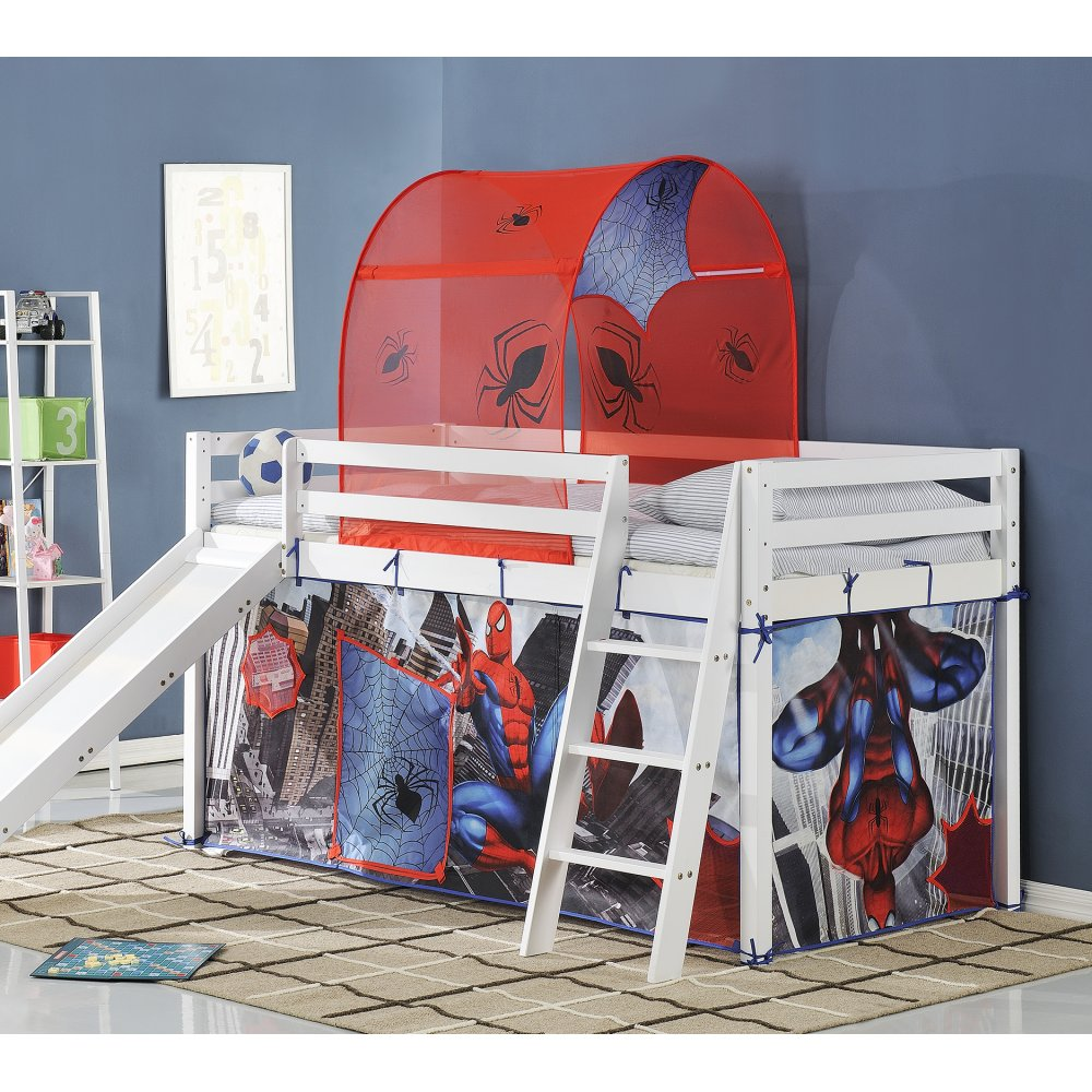 Spiderman Cabin Bed With Slide And Tent