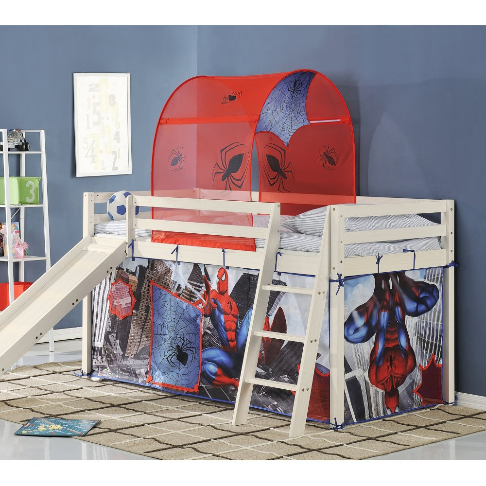 Cabin beds spiderman spiderman cabin bed with slide - Cabin Bed With Slide And Tent