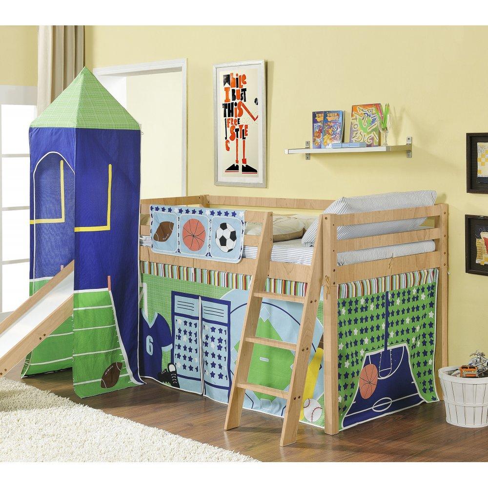 cabin bed midsleeper with slide and tower. Black Bedroom Furniture Sets. Home Design Ideas