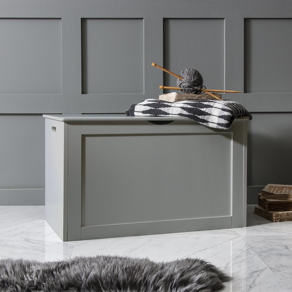 Storage Box Wooden In Grey Chest Trunk Noa And Nani