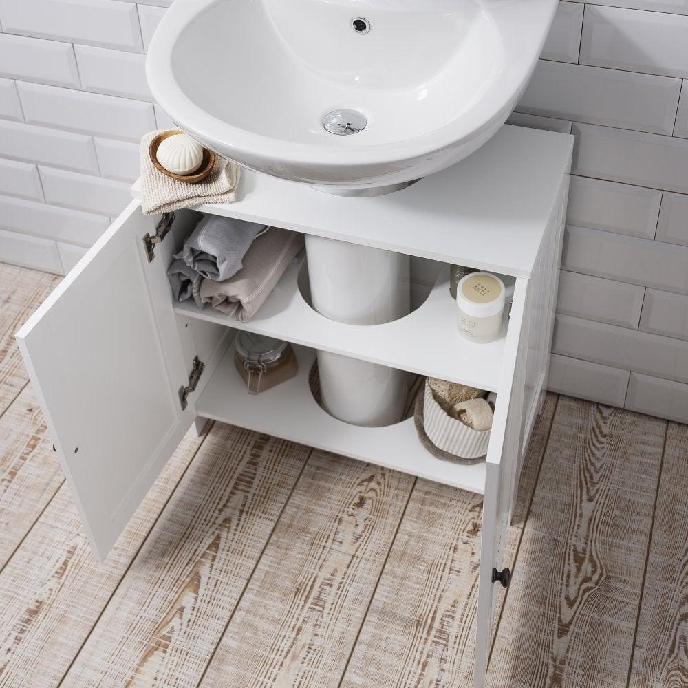 Stow Bathroom Sink Cabinet Undersink In White Noa Nani