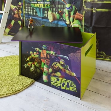 Teenage Mutant Ninja Turtles Toy Box in TMNT design