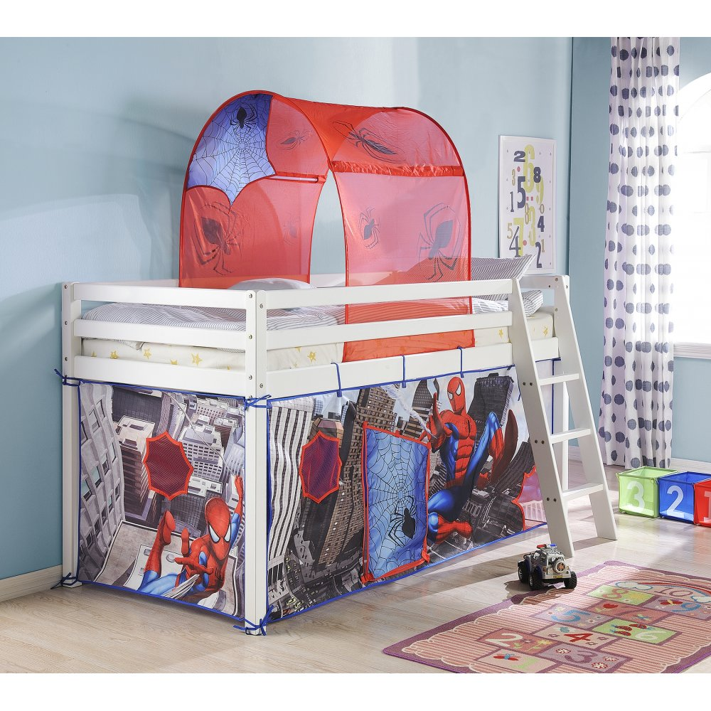 Tent for Cabin Bed Midsleeper in Spiderman Design & Cabin Bed Tents | Cabin Bed Canopies | Noa u0026 Nani