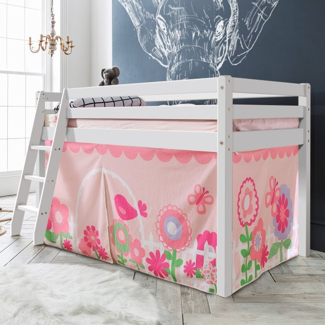 Floral Tent for Midsleeper Cabin Bed in Floral Design