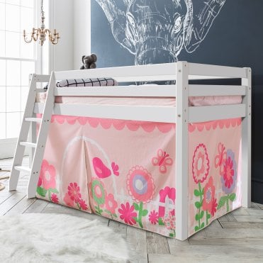 Tent for Midsleeper Cabin Bed in Floral Design