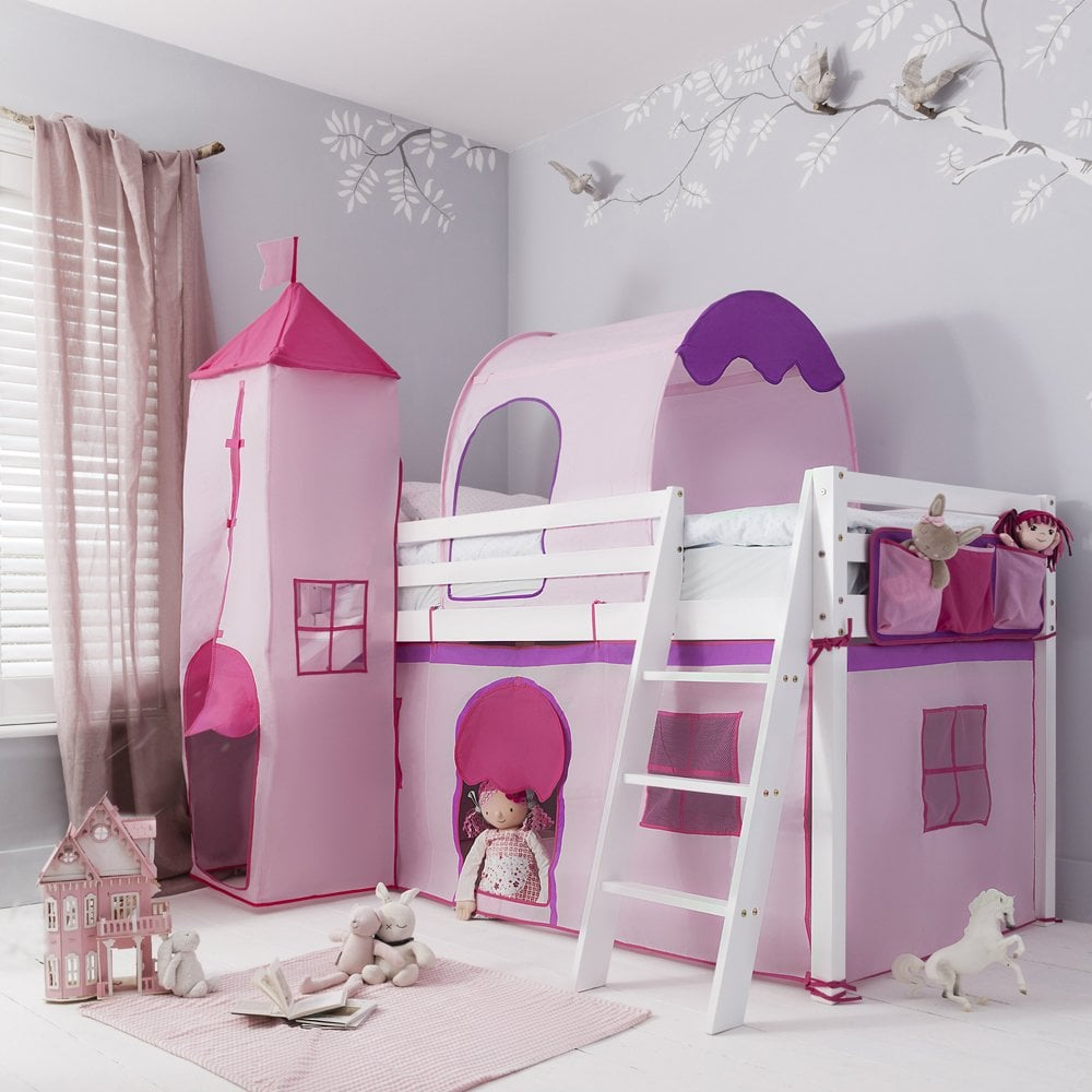 Tent For Midsleeper Cabin Bed In Pink Nw Accessories