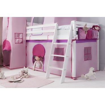 Tent for Midsleeper Cabin Bed in Pink NW