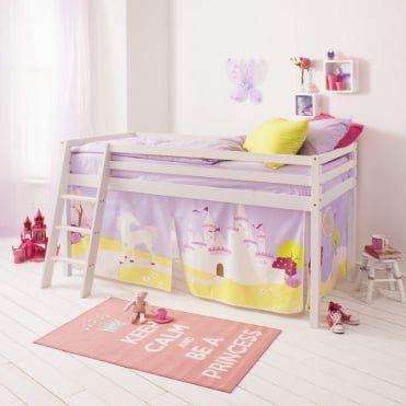 Tent for Midsleeper Cabin Bed in Princess Fairytale Design