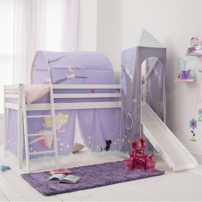 Annabel Tent, Tower, Tunnel & Bed Tidy for Midsleeper Cabin Bed in Annabel Design