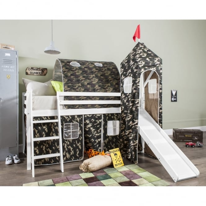 Army Tent, Tower, Tunnel & Bed Tidy for Midsleeper Cabin Bed in Army Design