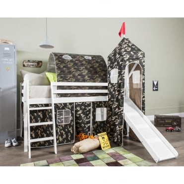 Tent, Tower, Tunnel & Bed Tidy for Midsleeper Cabin Bed in Army Design