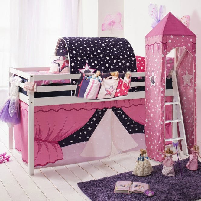 Showtime Tent, Tower, Tunnel & Bed Tidy for Midsleeper Cabin Bed in Showtime Design