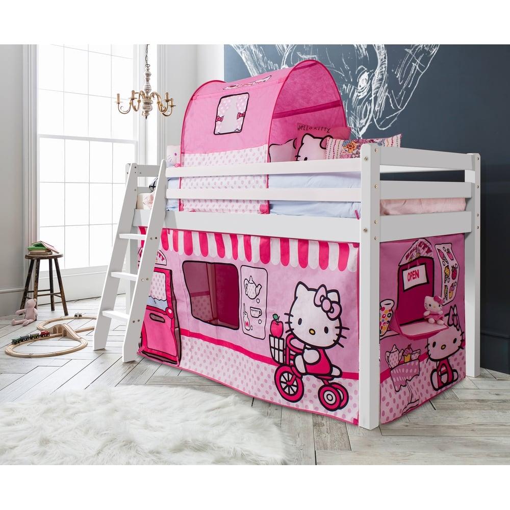 Hello kitty bedroom ireland - Thor Midsleeper Cabin Bed With Hello Kitty Tent