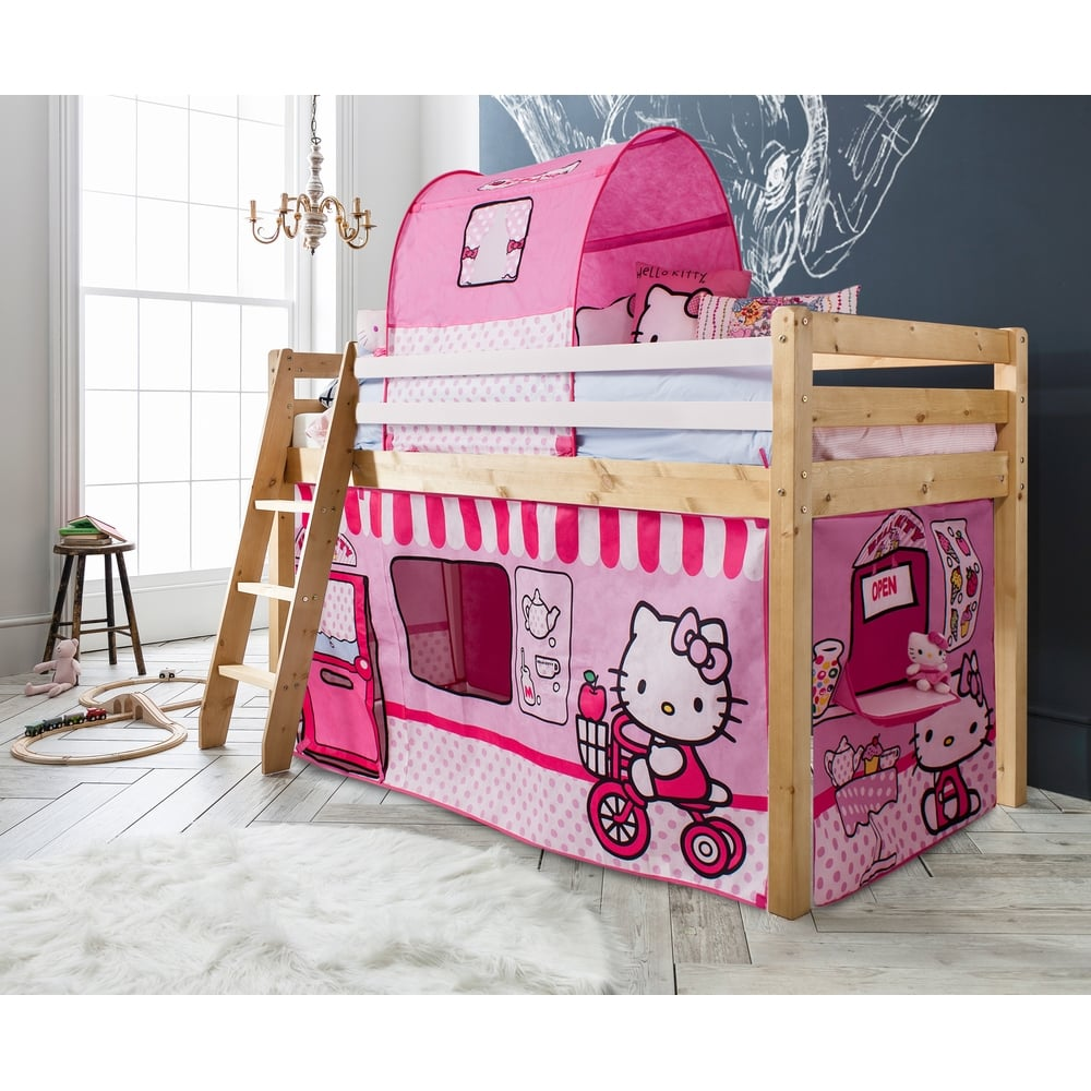 Mid Sleeper Cabin Bed With Hello Kitty Tent Noa Nani
