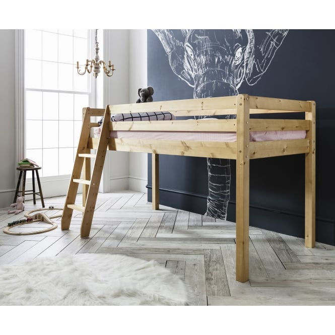 Thor Midsleeper Cabin Bed with Natural Pine Frame