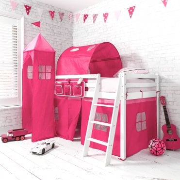 Top Tower for Cabin Bed in Pretty Pink