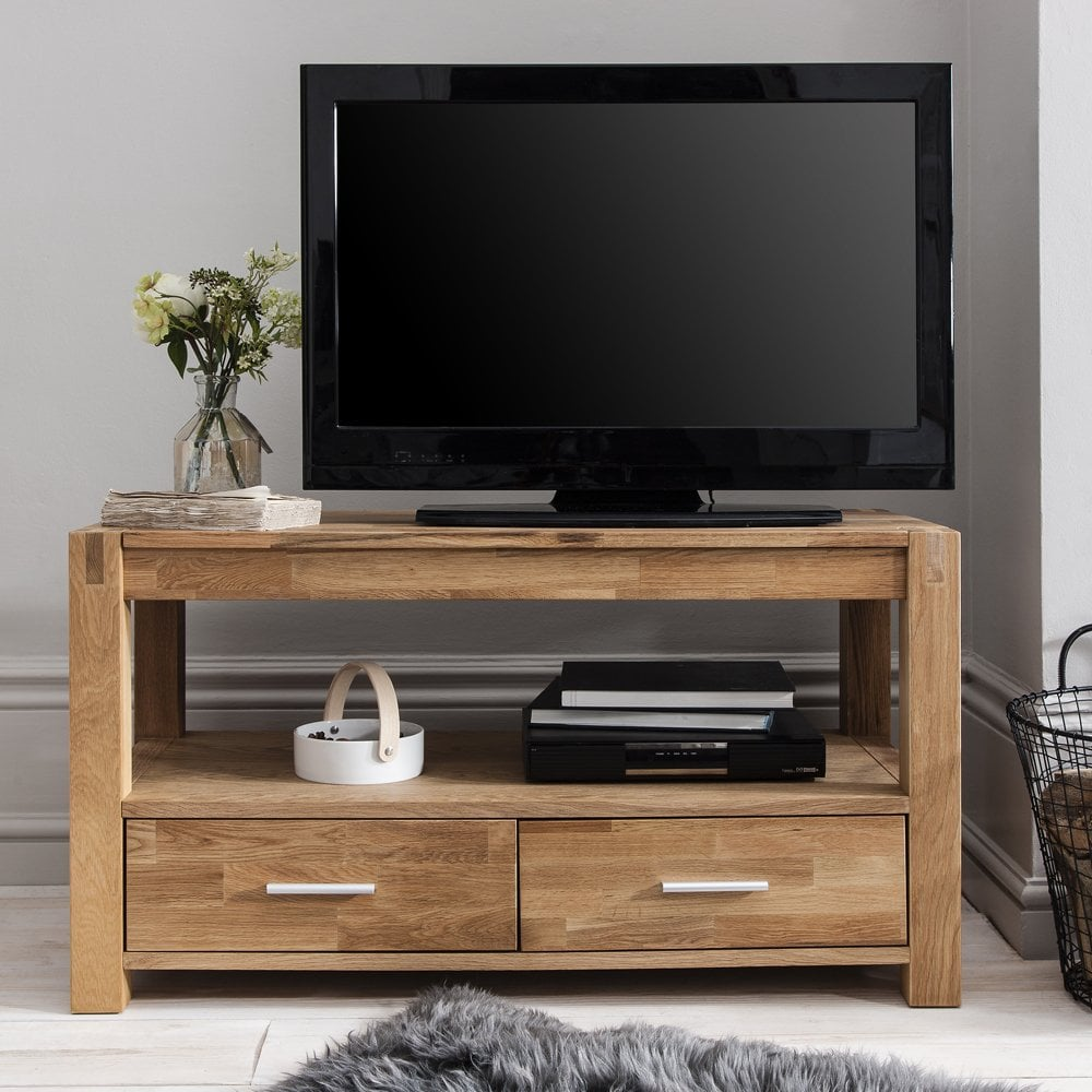 Vermont TV Unit In Oak TV Cabinet